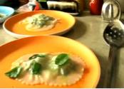 Blueberry Parfait And Spinach And Ricotta Ravioli
